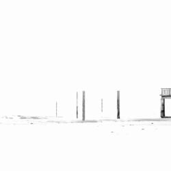 ponton marée basse fond blanc, krystyne ramon photos de paysages mer