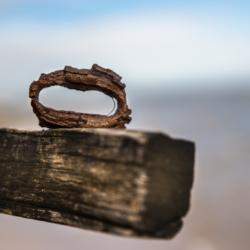 anneau de chaine rouillé couleur