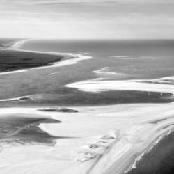 banc d'arguin, noir et blanc, nouvelle aquitaine, vu d'avion, bassin d'arcachon, krystyne ramon