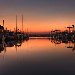 coucher du soleil port andernos, bassin arcachon, krystyne ramon