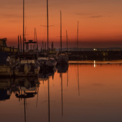 sunset port ostréicole, andernos, bassin arcachon, krystyne ramon