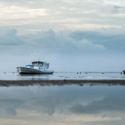3 bateaux sur l'eau, bassin arcachon, krystyne ramon