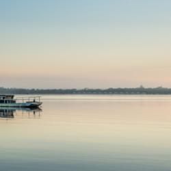 lever du jour sur le bateau, bassin arcachon, krystyne ramon